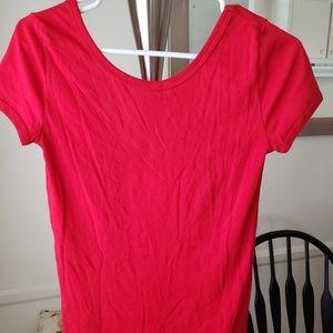 Petit Bateau Red V-Back Tshirt Size S EUC